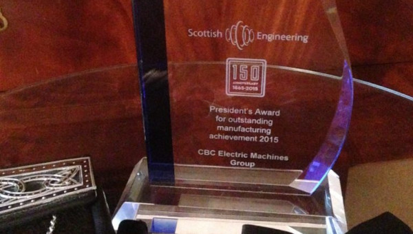 PARSONS PEEBLES HONOURED AT SCOTTISH ENGINEERING AWARDS